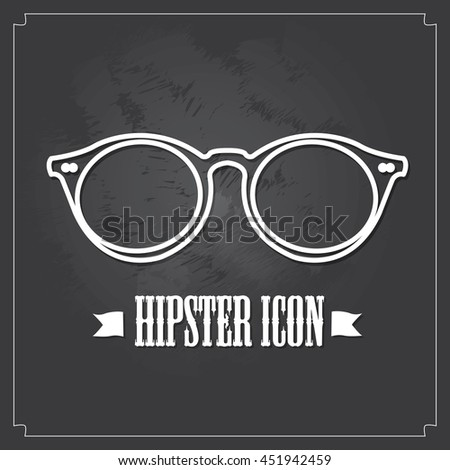 Isolated glasses, Hipster icons, vector illustration, eps 10