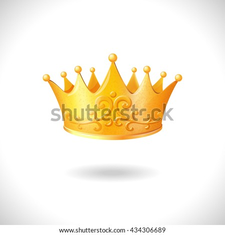 Isolated gold crown vector
