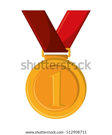 Isolated gold medal design