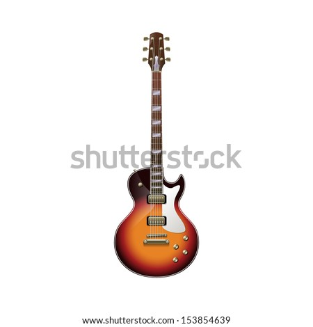 Isolated guitar, eps10 vector