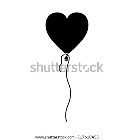 Isolated heart balloon of love concept