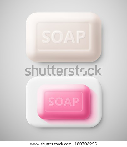 Isolated hygienic soap, eps 10. - stock vector