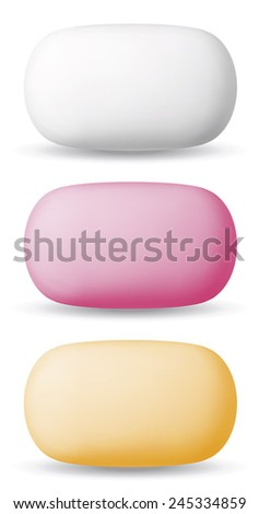 Isolated hygienic soap. EPS-10 - stock vector