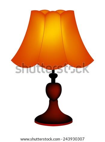 Isolated illustration table lamp lampshade on stock vector 243930307 isolated illustration of a table lamp lampshade on white background mozeypictures Choice Image