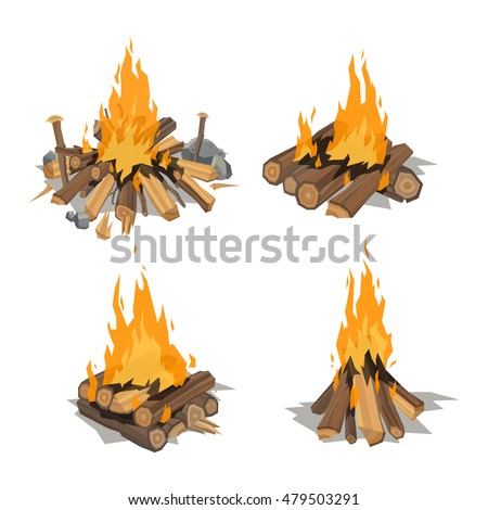 Campfire Illustration Pictures to Pin on Pinterest - PinsDaddy