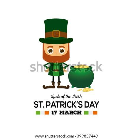 Leprechaun Girl Stock Illustration 253668190 - Shutterstock
