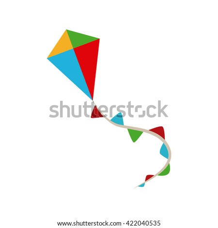 Isolated kite toy on a white background