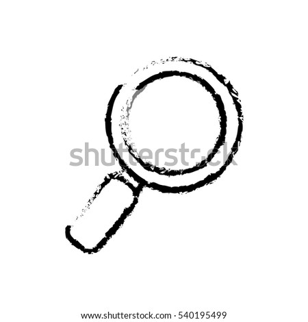 isolated magnifying glass icon vector illustration graphic design