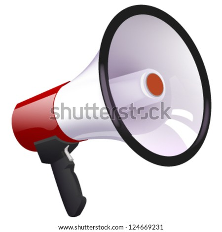 isolated megaphone. vector design - stock vector
