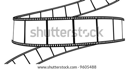 isolated movie/photo film - vector illustration on white background - stock vector