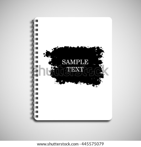 Isolated notebook paper on a spring ink design - stock vector