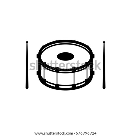 Isolated Outline Silhouette Icon Snare Drum Stock Vector ...