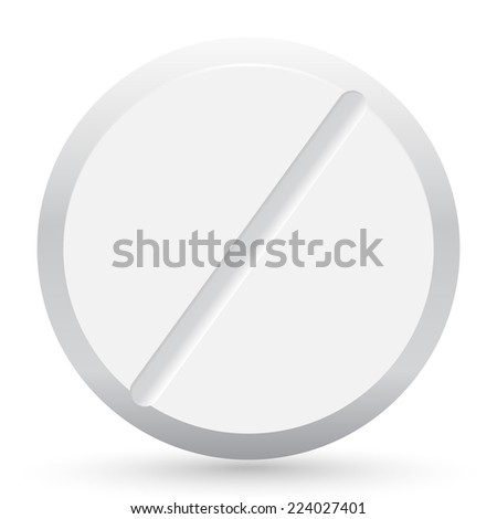 Isolated pill closeup illustration