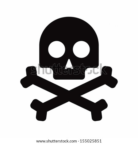 Isolated pirate skull icon - stock vector