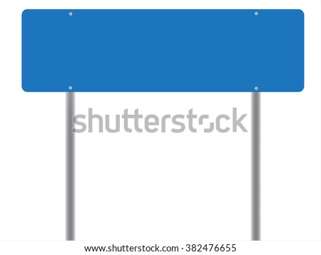 Isolated post sign