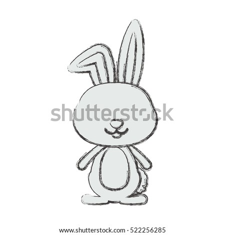 Isolated rabbit cartoon design