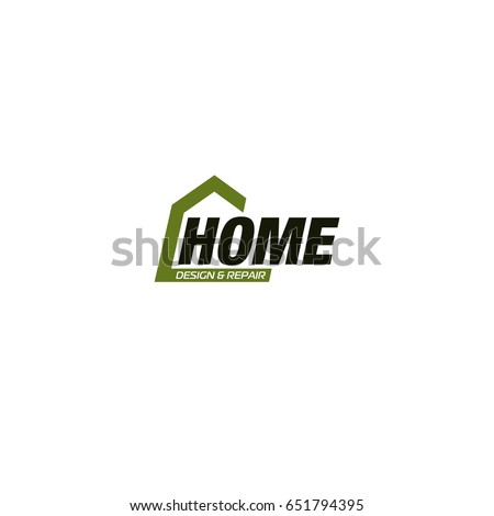 Isolated Real Estate Agency Business Logo, House Logotype On White  Background, Home Concept Icon