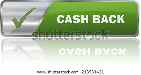 isolated realistic modern green 3D vector eps10 cash back label sign - stock vector