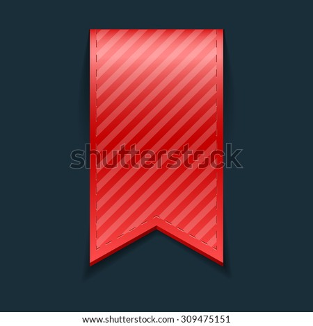 Isolated red bookmark, vector illustration