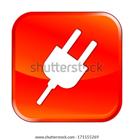 Isolated red web icon on white background