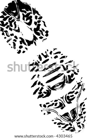 Isolated Right Trainer - Highly detailed vector of a walking shoe - stock vector
