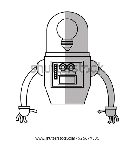Isolated robot cartoon design