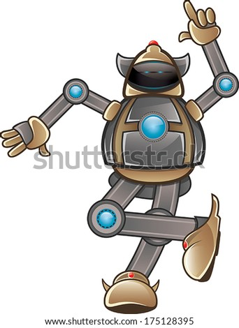Isolated robot finger pointing - stock vector