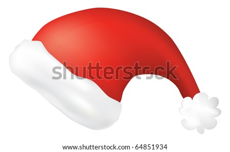 isolated santa claus hat