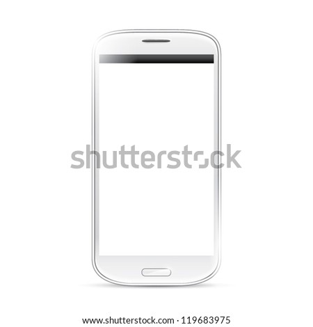 Isolated shining smartphone vector eps10 - stock vector