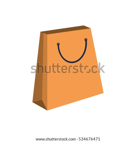 Isolated shopping bag design