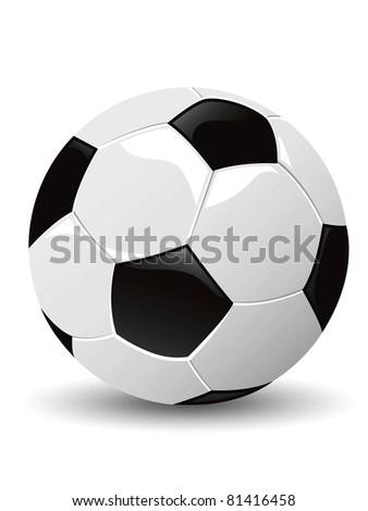 isolated soccer ball vector - stock vector