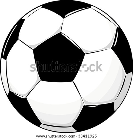 isolated soccer ball, vector format very easy to edit - stock vector