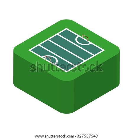 Isolated sport field on a transparent background