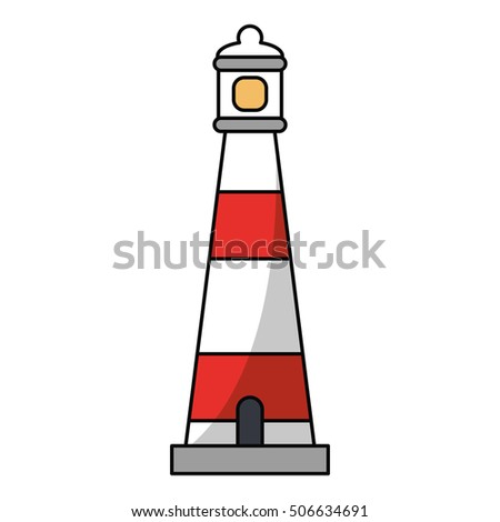 Isolated summer lighthouse design