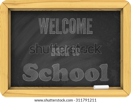Isolated vector black school board. Back to school illustration.