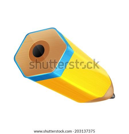Isolated Vector Cartoon Color Pencil - stock vector