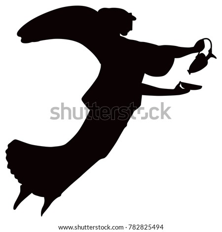 Isolated Vector Illustration Black Silhouette Ancient Stock Vector