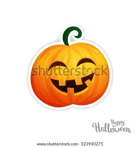 Isolated vector pumpkin, Halloween theme - stock vector