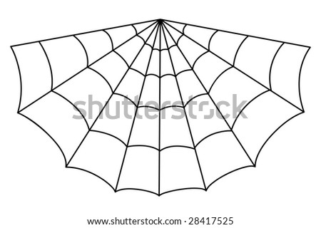Isolated vector spider web illustration - stock vector