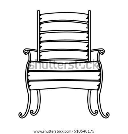 Isolated wood chair design
