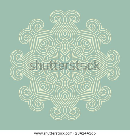 Isolated yoga meditation ornament  - stock vector