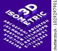 isometric alphabet font. 3d...
