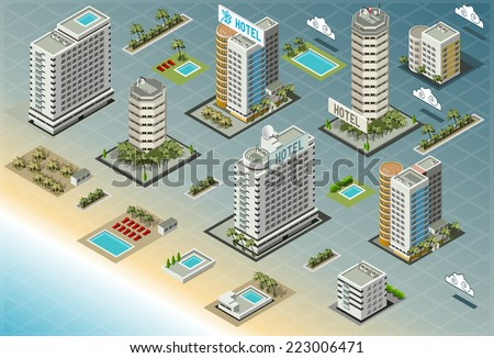 Hotel building stock images royalty free images vectors for 3d house building games online