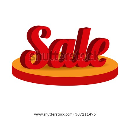 Isometric 3d word big sale design. Special offer sale. Sale Text. Colorful sale icon. Sale sign. Sale Tag. Sale sticker. Sale poster. Special offer design. Sale Icon. Sale 50 Sale Sign. Sale off. sale - stock vector