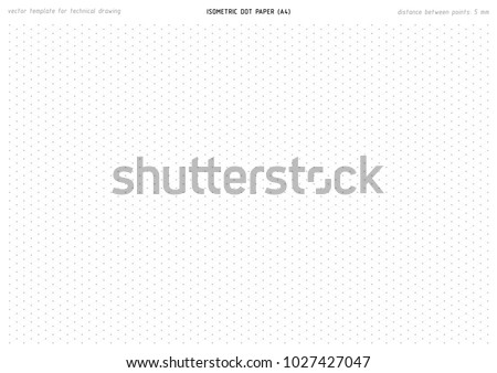 Isometric Dot Paper Vector Printable Pattern Stock Vector
