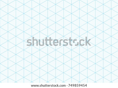 Isometric Graph Paper Background Plotting Triangular Stock Vector
