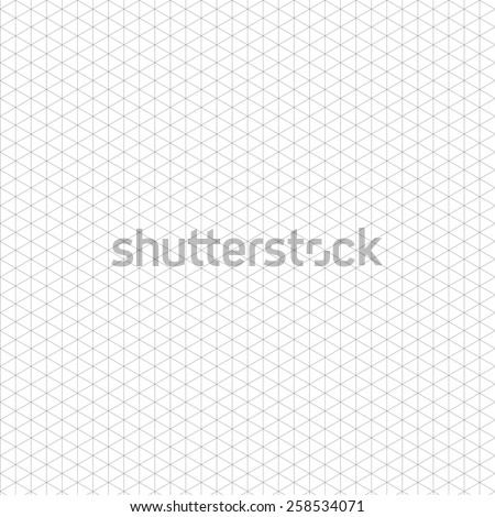 Isometric grid black. Template for your design. - stock vector