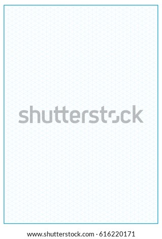 Isometric Grid Printable Graph Paperblue Grid Stock Vector