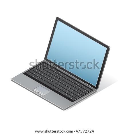 Isometric laptop - stock vector