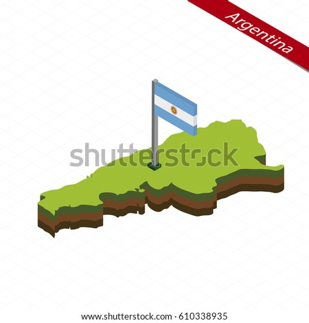 Map Icon Argentina Blue Map America Stock Vector - Argentina map shape